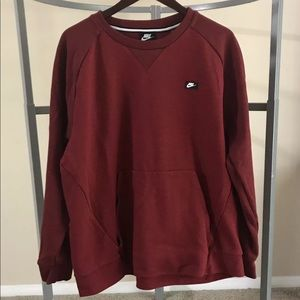 Nike xl crew neck maroon modern sweatshirt